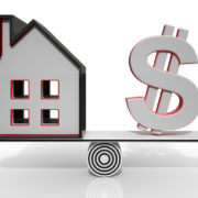 House And Dollar Balancing Show Investment Or Mortgage