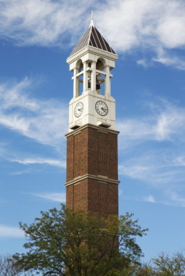 The Bell Tower on the campus of Purdue University in West Lafayette Indiana a gift from the class of 1948